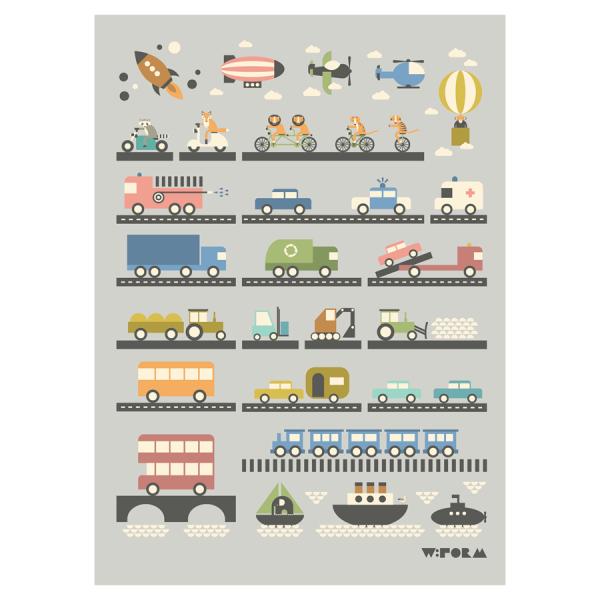 Vehicles 50x70cm